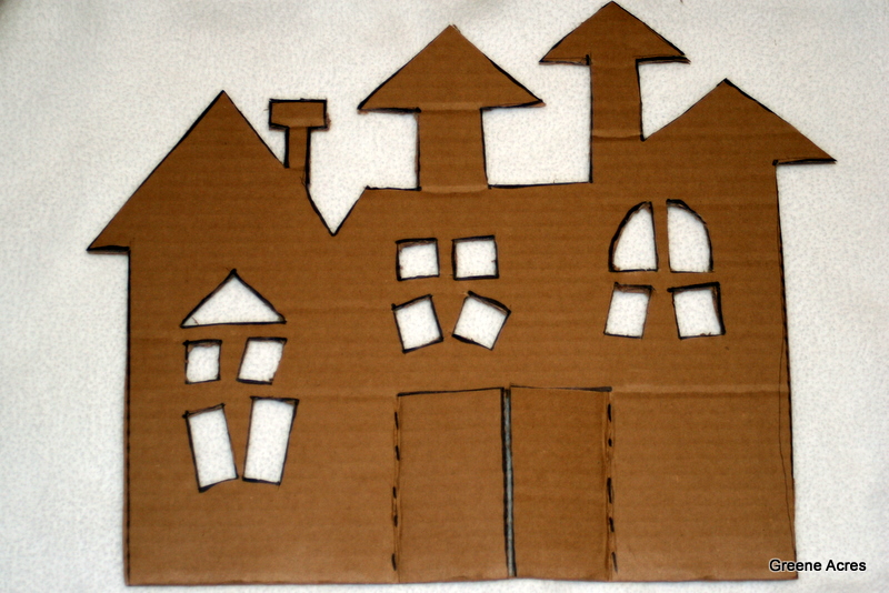 greene acres hobby farm diy cardboard haunted house