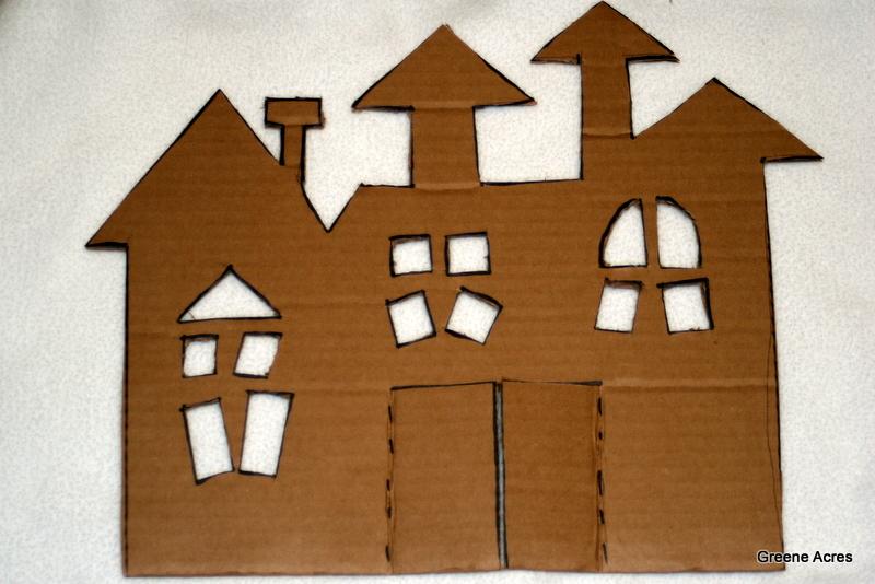 Greene acres hobby farm diy cardboard haunted house for How to make a cardboard haunted house