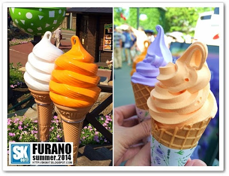 Furano Japan - Lavender and Melon Ice Cream