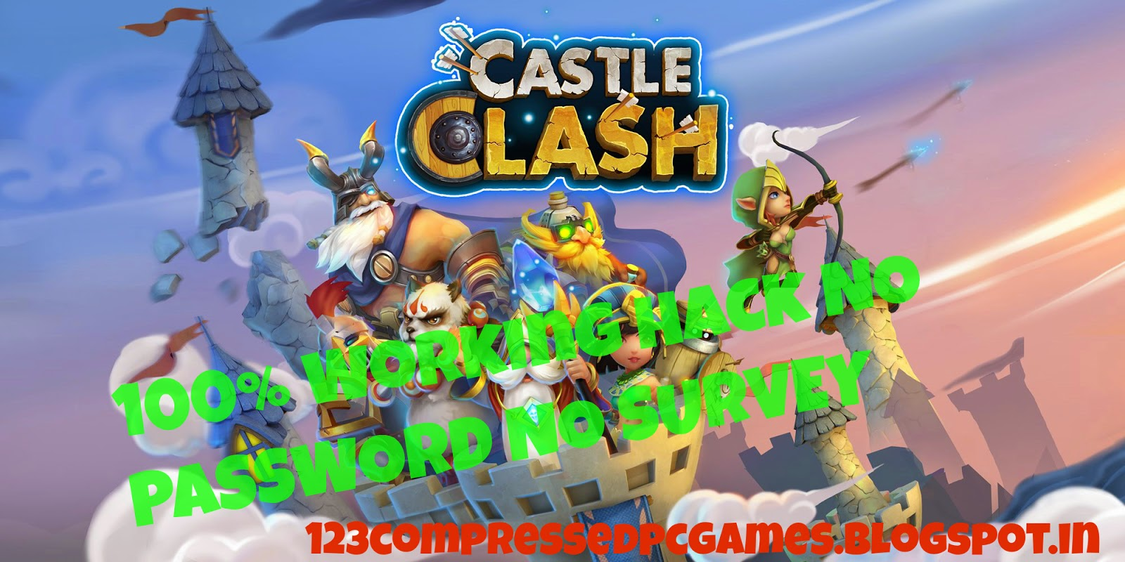 castle clash apk mod plus hack no survey no password direct link