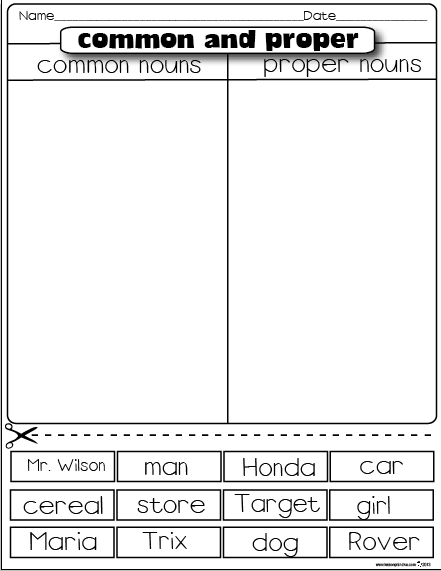 addition proper nouns worksheets pdf in addition proper noun worksheet