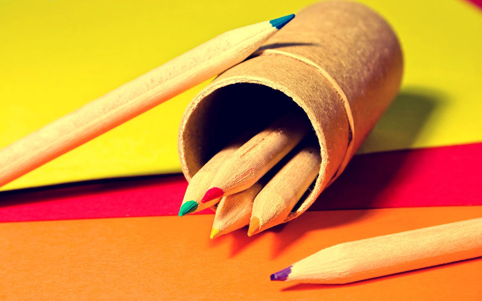 Coloured Pencils Wallpaper Color Pencils And Pencil Box