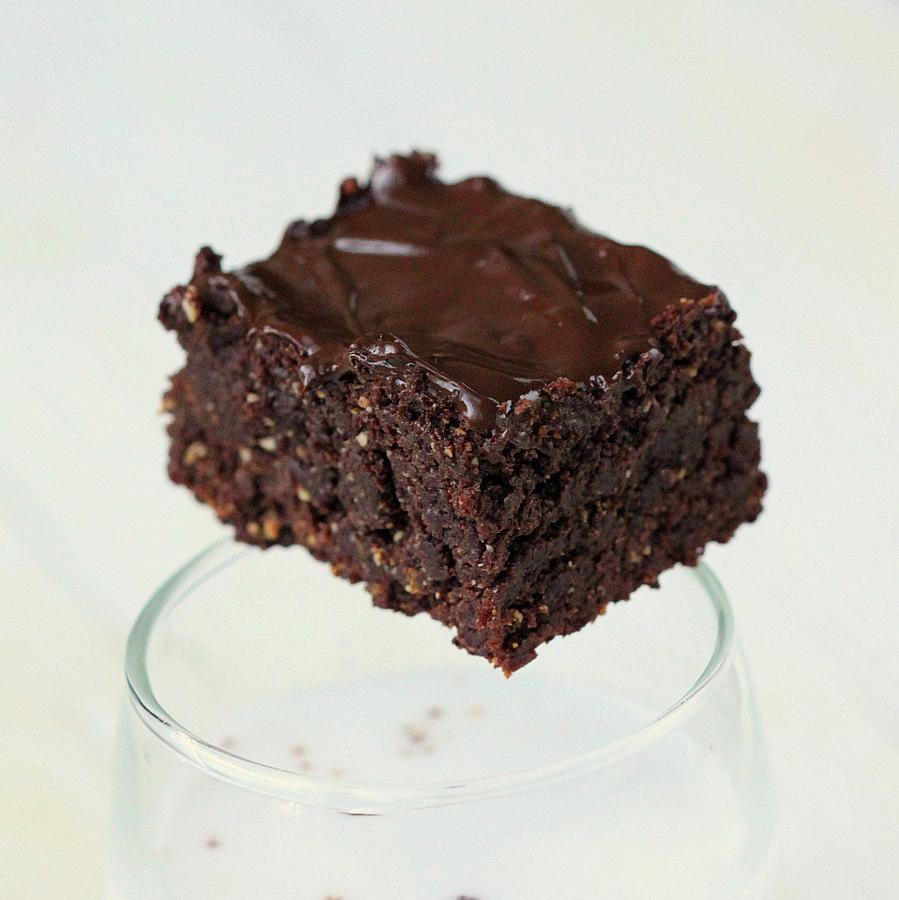Triple Chocolate Salted Caramel Brownies. Vegan Recipe - Vegan Richa