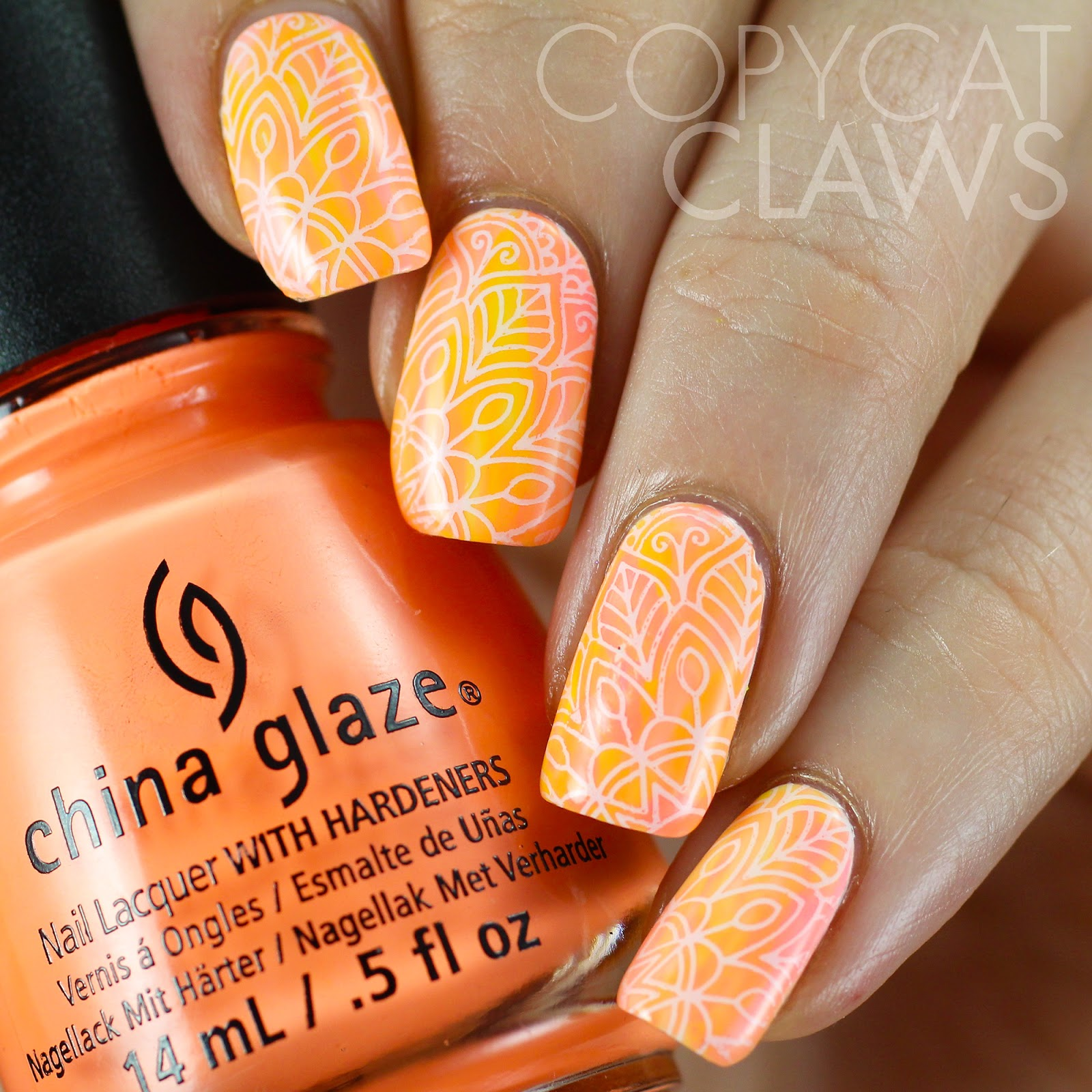 Copycat Claws: Neon Watercolor Nail Art