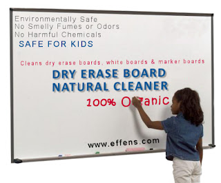 Organic Dry Erase Board Cleaners is a step towards a Chemical Free School