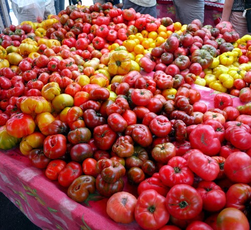 farmer's market heirloom tomato extravaganza