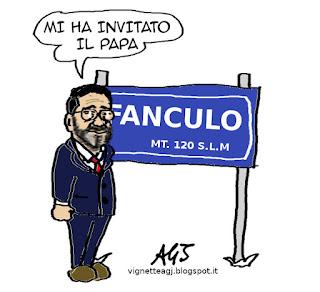 papa francesco, Marino, filadelfia, satira vignetta
