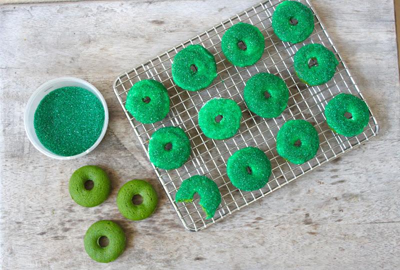 Green Donuts Little green velvet donuts