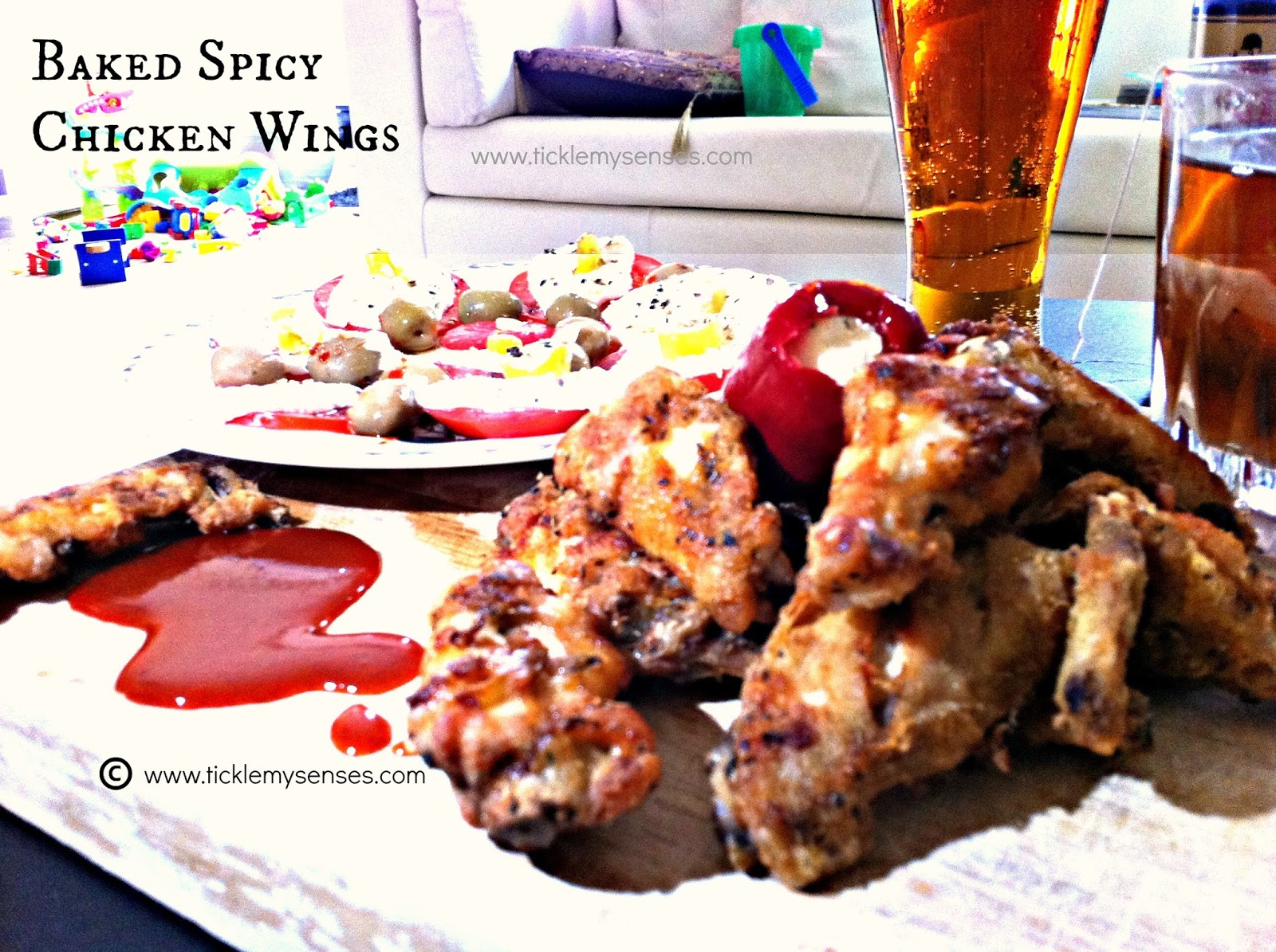 ... My Senses: Baked Buffalo Chicken Wings/ Baked Spicy Chicken Wings