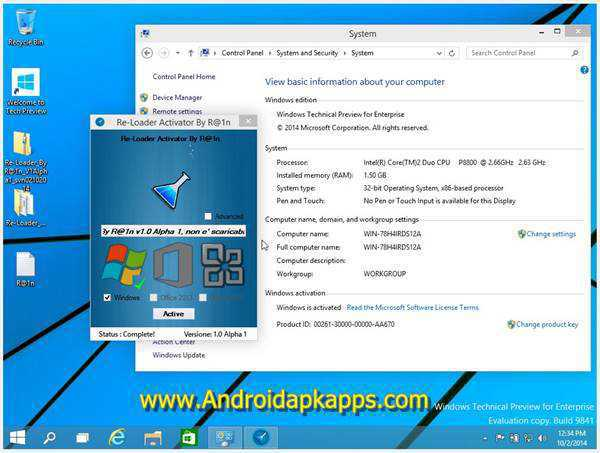 Free Download ReLoader 1.4 Activator All Windows and Office Terbaru 2015 Gratis