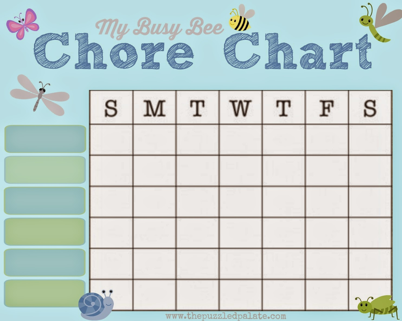 chore list charts
