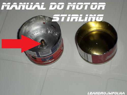 Manual do motor Stirling, cabeçote do motor stirling, com bucha soldada
