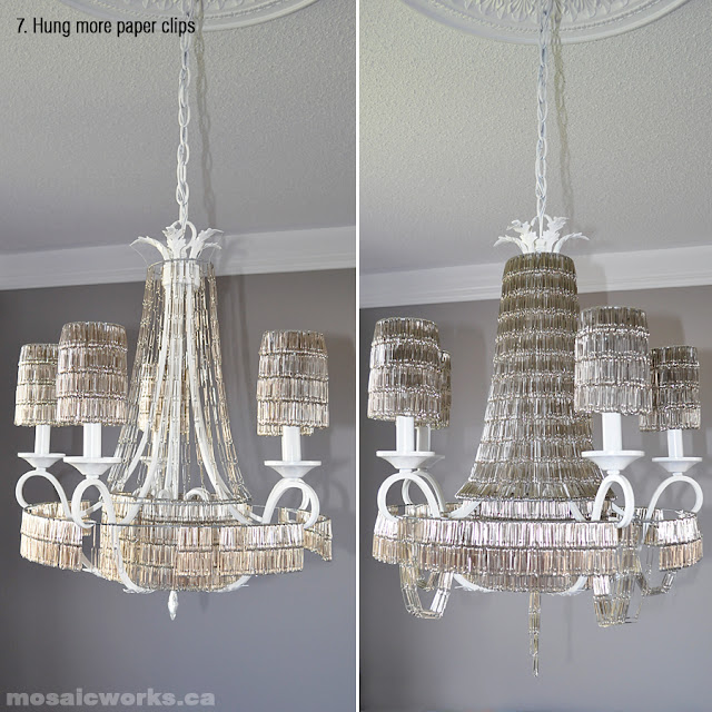 Making The Paper Clip Chandelier