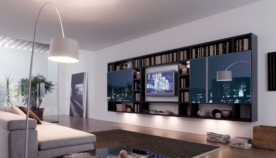 Living Room TV Wall Unit Storage