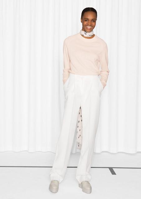 stories pink cashmere jumper, pastel pink cashmere jumper,