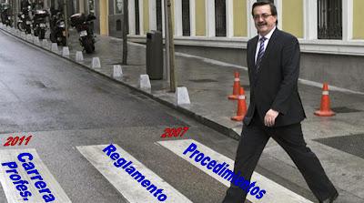 Imagen metafórica del paso del DGOI sobre las aspiraciones de la Inspección Sanitaria