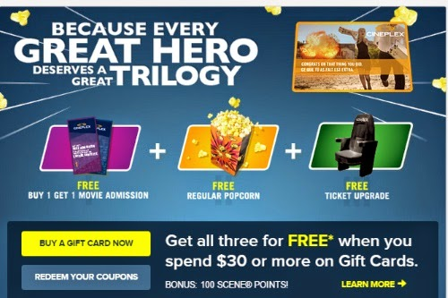 Cineplex odeon coupon 2 for 1