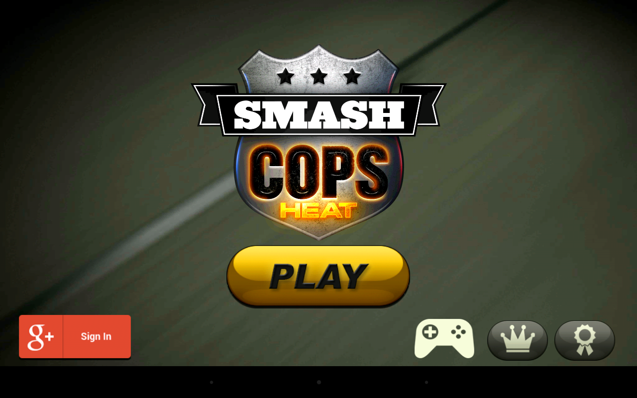 Smash Cops Heat: Launch screen