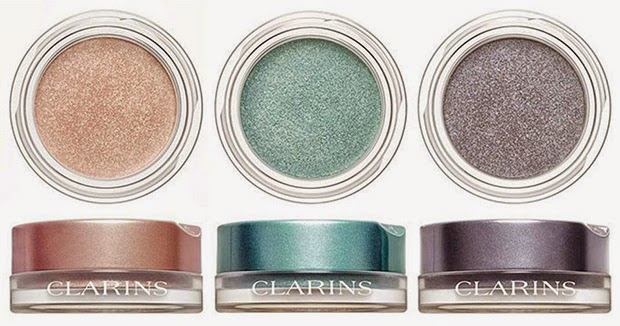 Clarins Ombre Pots Aquatic Rose, Aquatic Green, Aquatic Granite