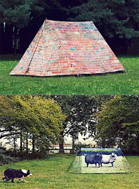 палатка с маскировкой