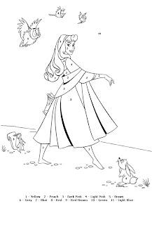 Pinceau Magique Coloriages et Activités Disney Disney  - coloriage magique princesse