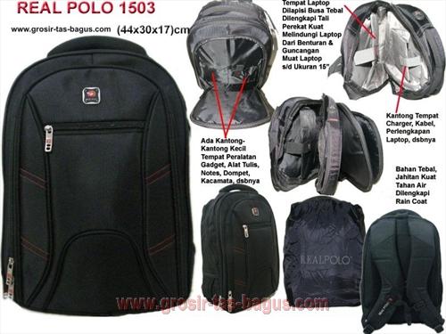 Ransel Laptop Cowok Real Polo 1503 Terbaru Murah dan Bagus -190.000