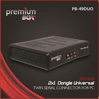 PREMIUMBOX - PREMIUMBOX PB-49 DUO ATUALIZAÇÃO DONGLE-DUO-PB-49-SKS-IKS