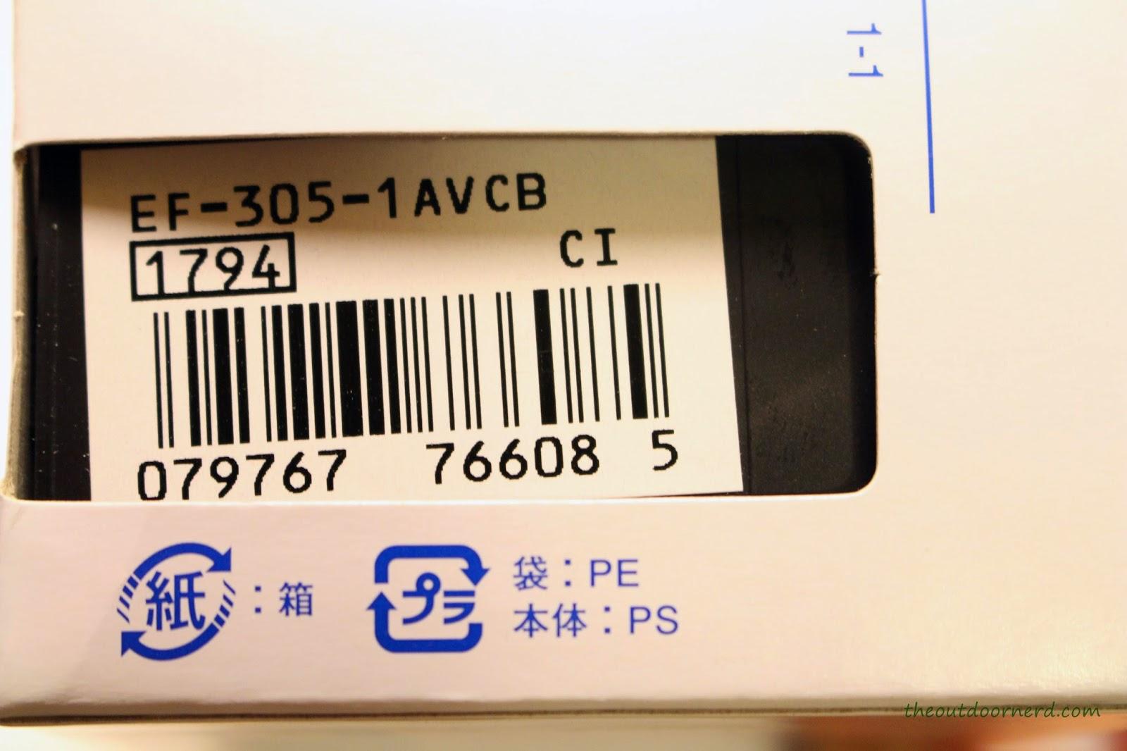 Casio Men's EF305-1AV Edifice Box 2