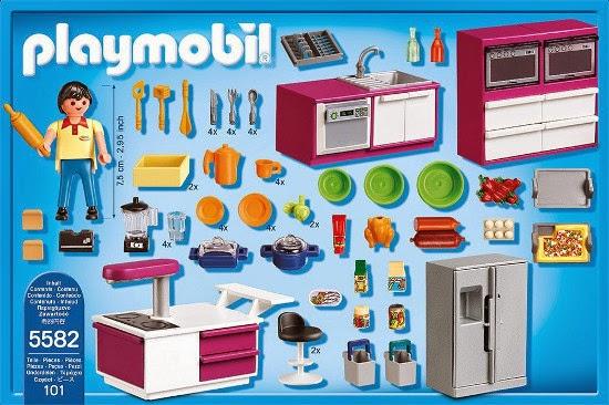 Juguetes playmobil city life 5582 cocina de dise o for Playmobil casa de lujo