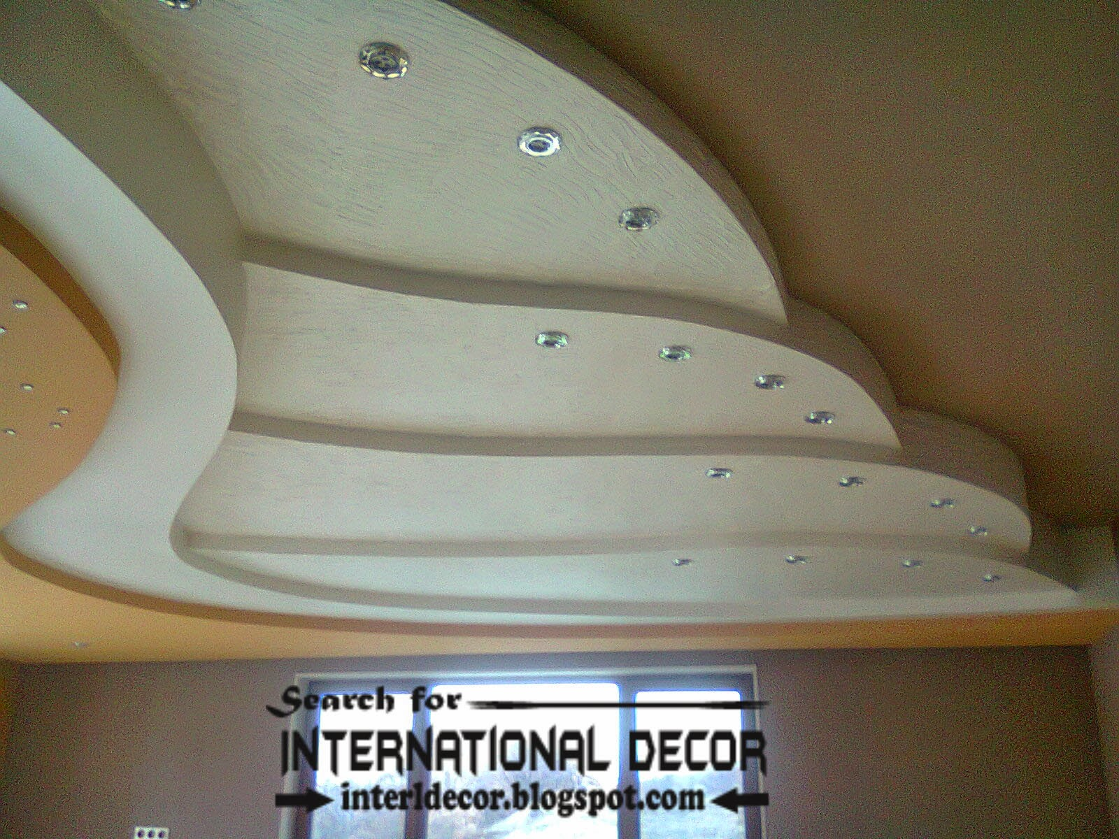 gypsum ceiling designs, multi-level suspended ceiling, multilevel ceiling with spot light