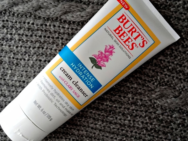 Burt's Bees Intense Hydration Range with Clary Sage Cream Cleanser Ingredients