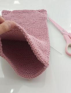 coser el cuerpo de punto del amigurumi osito
