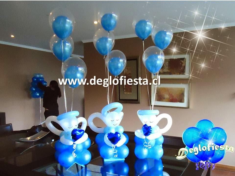 Deglofiesta chile decoraciones con globos para bautizo - Decoracion con bombas para bautizo ...