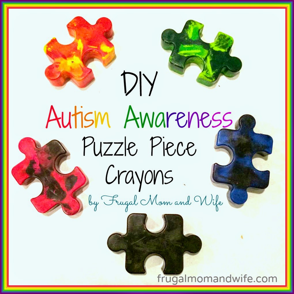 frugal mom and wife diy autism awareness puzzle piece crayons