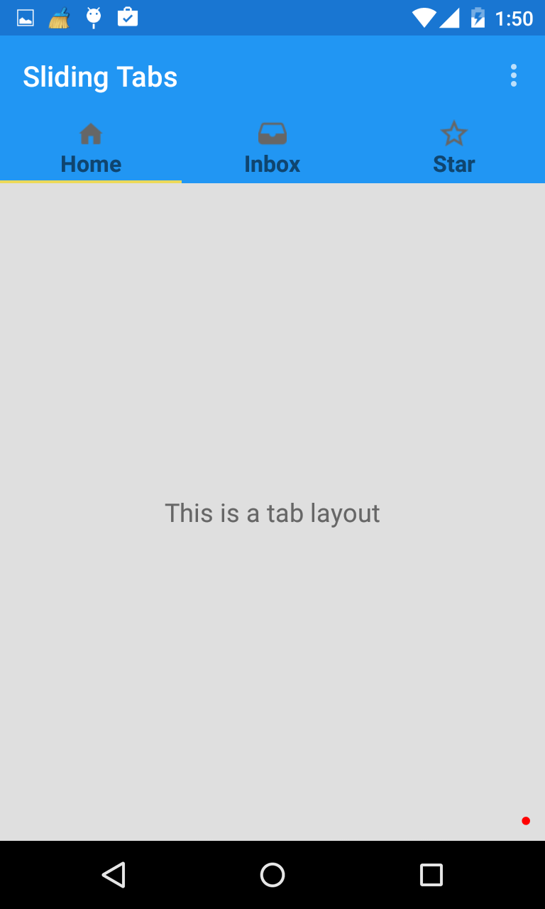 Android Tab Layout Material Design Support Library
