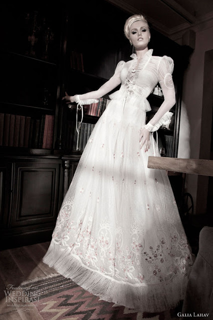 Galia Lahav vintage wedding  dress 2013 2014