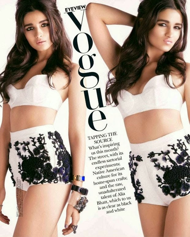 Alia Bhatt HOT Vogue Magazine Photoshoot July 2014