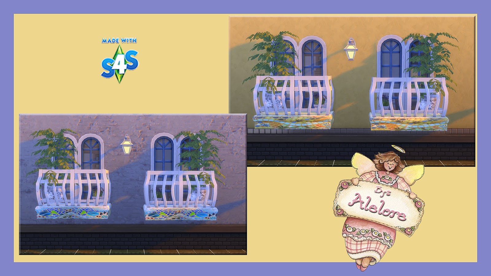 Alelore sims blog mosaic balcony for Sims 4 balcony