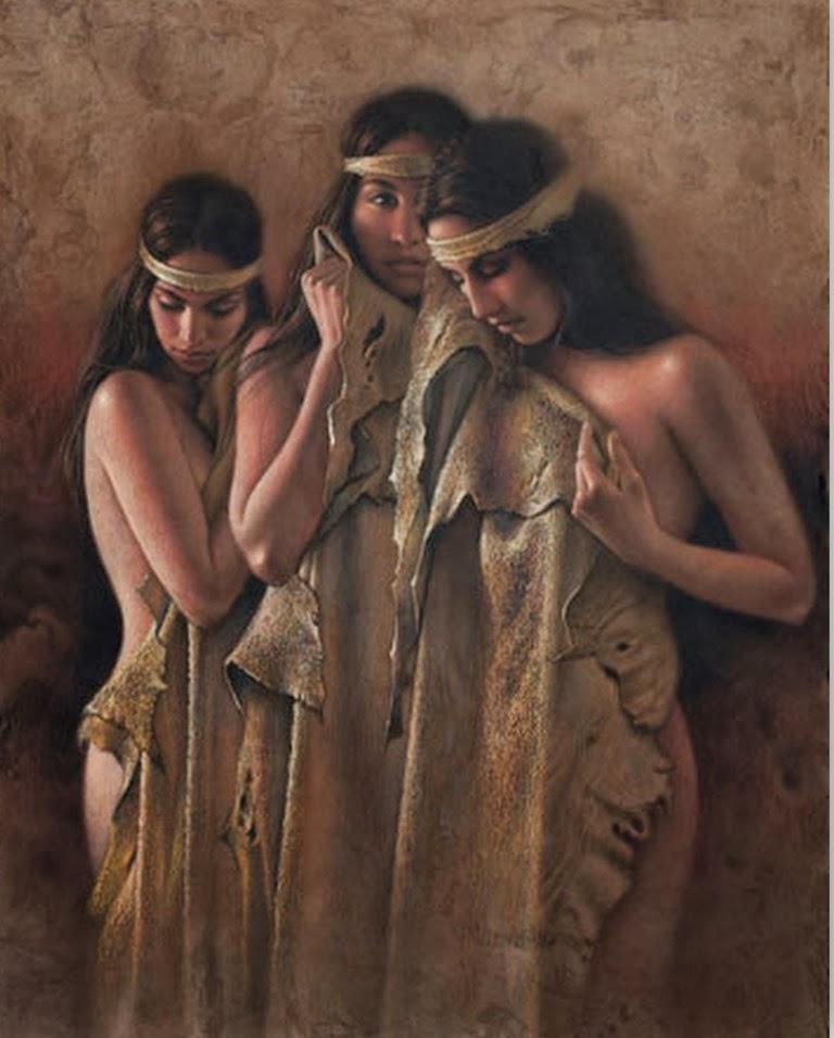 Pinturas Al Oleo De Mujeres Indigenas