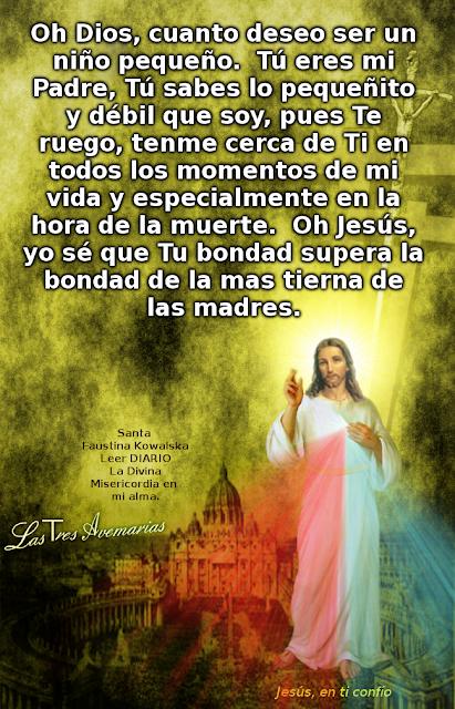 oracion escrita por santa faustina version femenidna