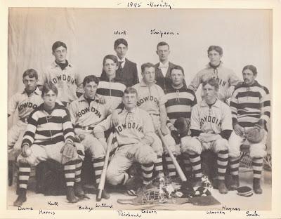 1895 Bowdoin Baseball Team; Francis S Dane I
