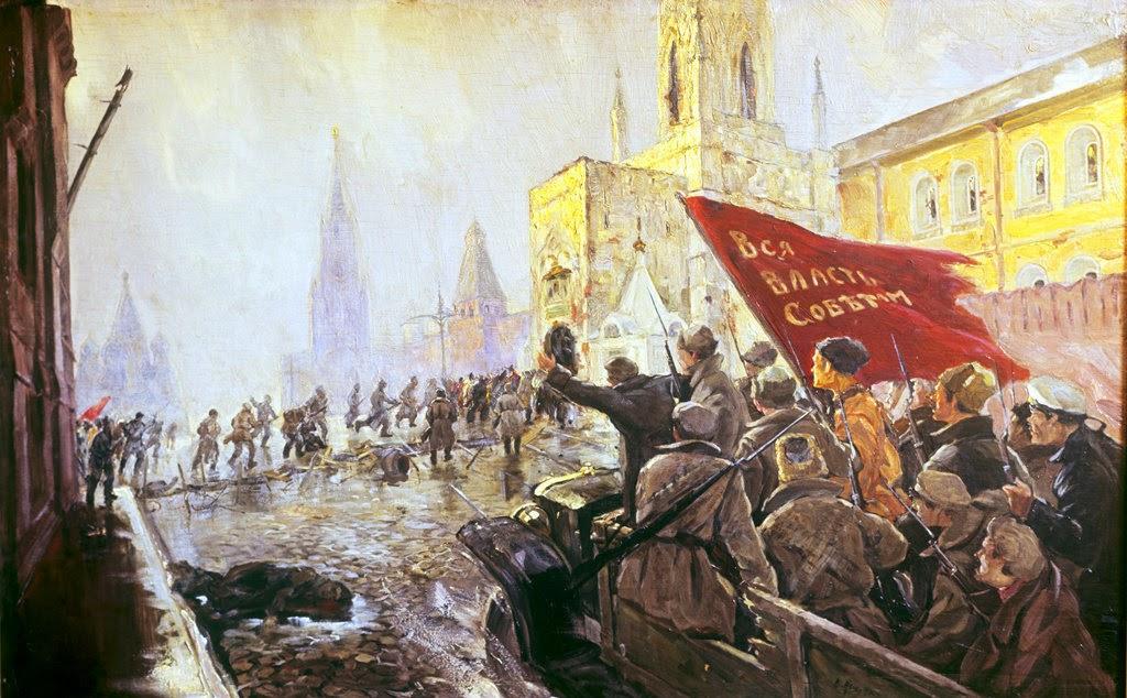 Revolucion rusa cuadro pintura