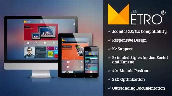 JSN Metro Pro v2.0.7 – Responsive Joomla Creative Template
