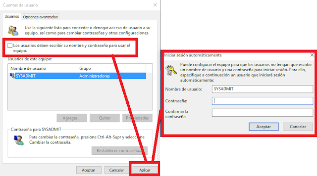 Windows: Configurar autologin desde GUI