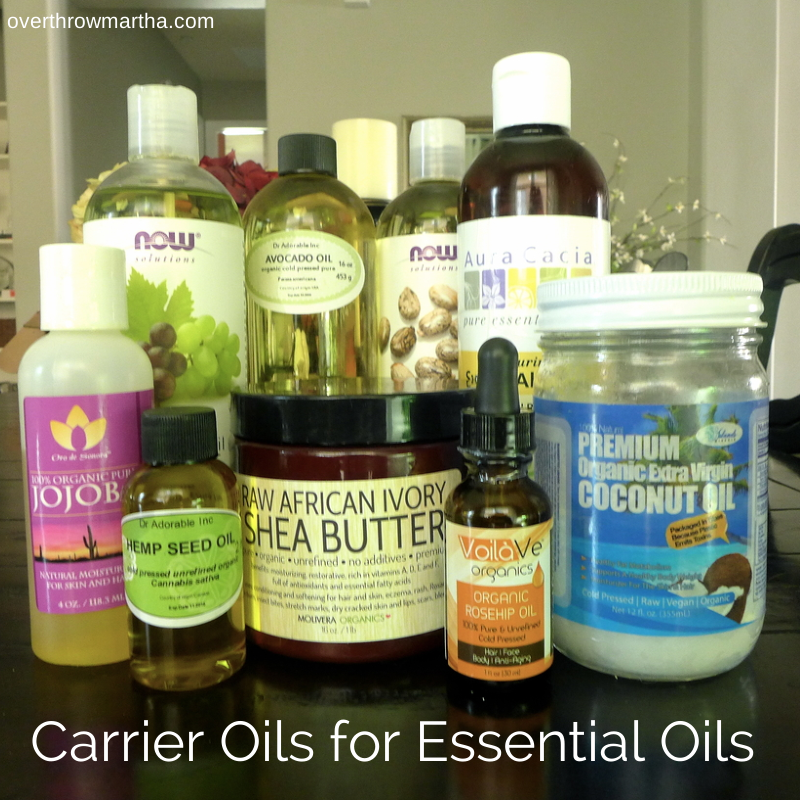 Types of carrier oils that can be used for essential oils