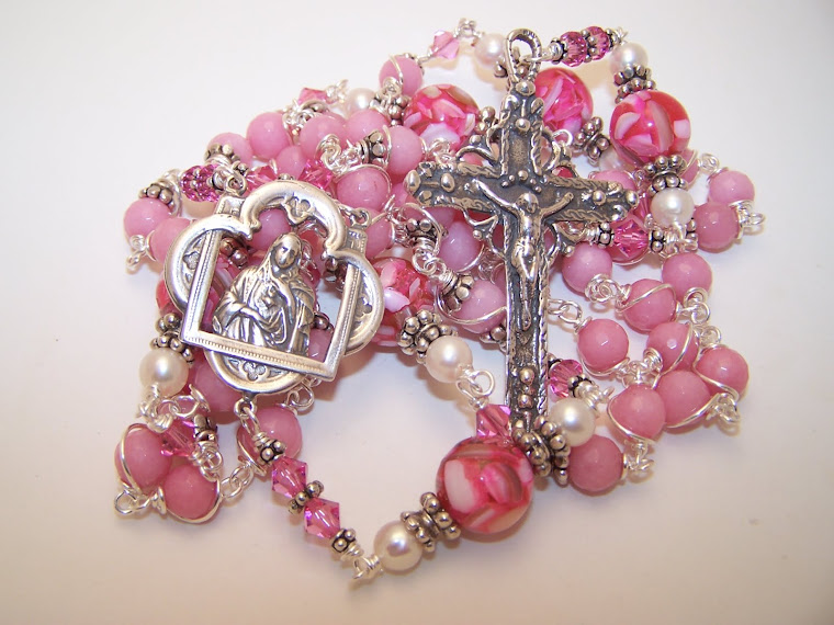 No. 3. Just Listed! FIRST COMMUNION ROSARY- Rosary Of The Sacred Heart Of Mary