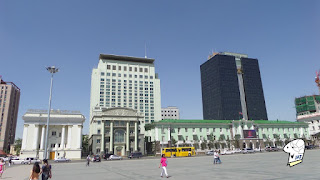 View of the West side Chinggis Khaan Square