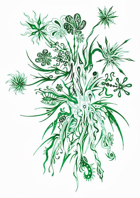 Dessins Fantastiques - Page 2 Fleurs+vertes+2