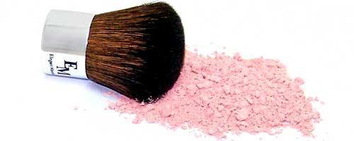 rubor rosa brocha kabuki