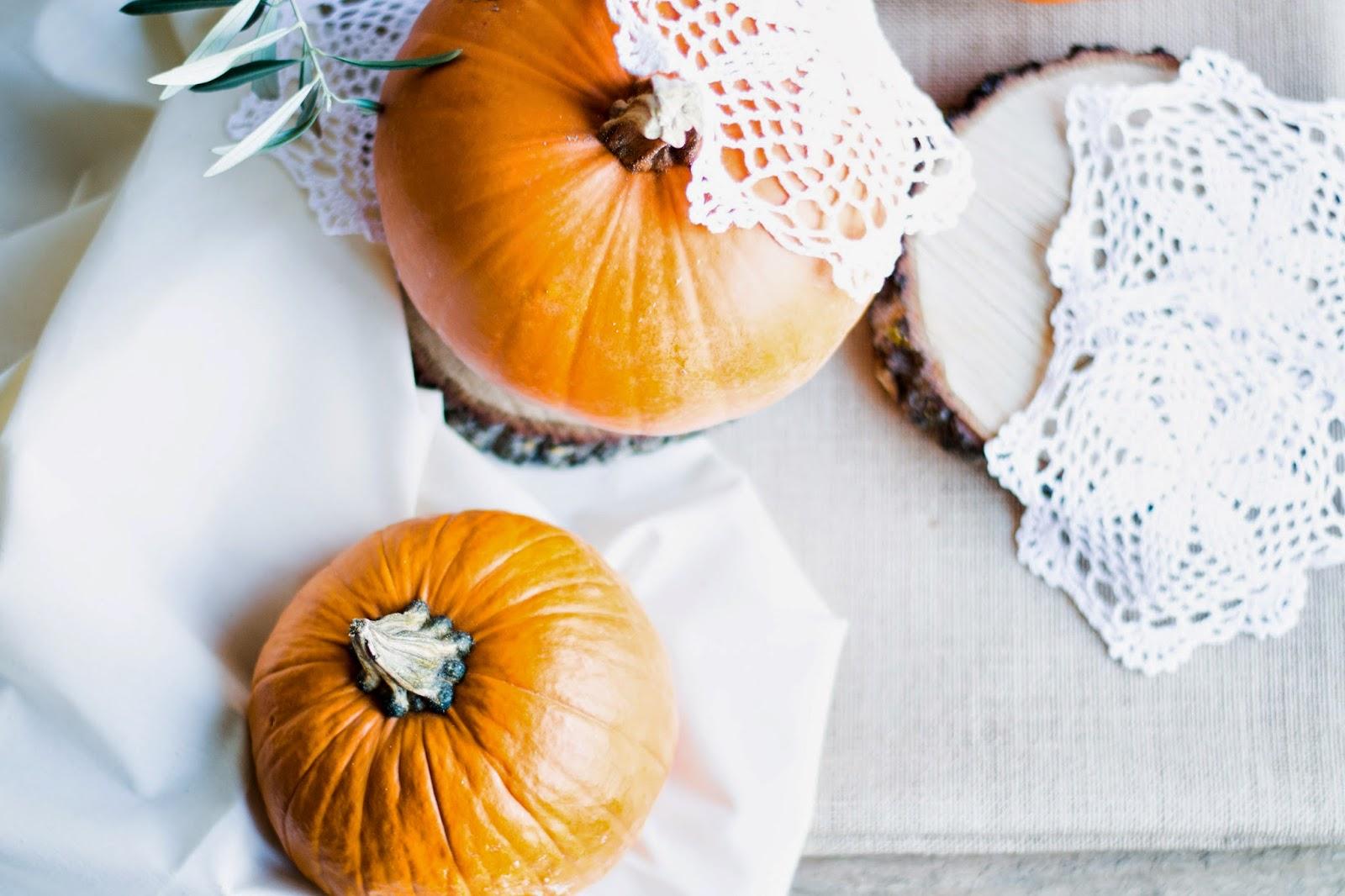Decoración de Halloween con calabazas